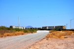 Intermodal train at Grupo Mexico Intermodal terminal spur