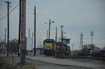 CSX yard with locos