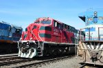 FXE ES44AC front freshly painted at Guadalajara yard