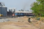 FXE SD40's ex-FNM in blue scheme leading scrap train