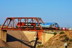 FXE Super 7's locos crossing Hermosillo's Dam bridge