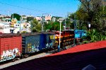 KCSM Mixed freight train heading south