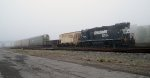 NS 5106 Tied Down in Buffalo Jct. Yard in the Fog