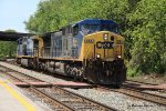 CSX 484 and the EB Q226-05 light power movement
