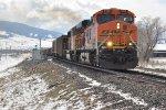 Eastbound coal train exits siding
