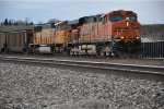 Eastbound coal loads leave crew change