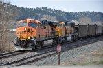 Empty coal train waits for meet