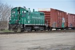 Switching boxcars in the yard