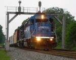 NS 3038 under signal bridge