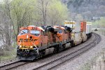 Eastbound BNSF Stack Along the River