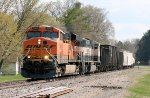 Westbound BNSF Freight Passes thru on the Signle Track