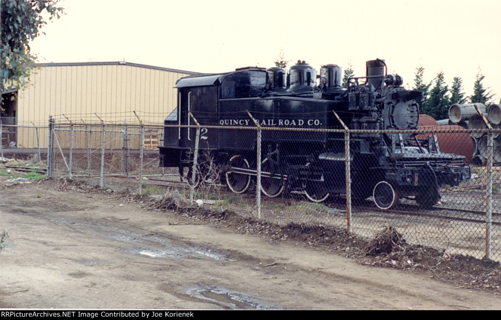 Quincy Railroad Co. #2 Pacific Locomotive Assn locomotives