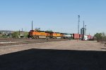 BNSF 7259 Point On Departing Freight