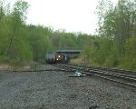 CSX 597 / L420? clearing CP-SK and approaching Castleton-On-Hudson Bridge