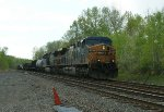 CSX 597 & 563  / L420? clearing CP-SK and approaching Castleton-On-Hudson Bridge at Selkirk, NY