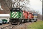 A Southbound NREX Grain waits for its Crew