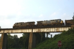 Southbound coal crossing the Etowah River