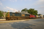 Colorful southbound intermodal