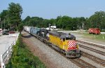 NS P37 heading through Lula with a nice EMD duo