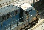 CSX 597 Blue flagged