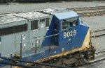 CSX 9025 Blue Flagged