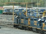 CSX 1194 - A switcher in a sea of road engines