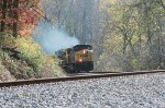 CSX 267 is smoking