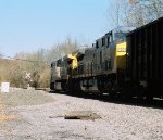 CSX 267 and CSX 392 pulling coal car