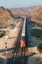 BNSF 732 crosses summit