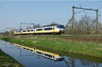 "SGM or Sprinter Electric Multiple Unit on his way from Utrecht to Rhenen by ""de Haar"""