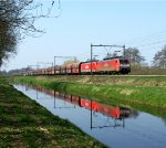 Former Railion now DB Schenker BR 189 on their way with a coaltrain from Amsterdam to Germany