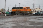 BNSF 2711 pulls off the stabling point near the Amtrak station.