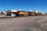 Another container train rolls west through Kingman station