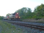 "CN 2592 leads the ""Canadian"" into Parry Sound."