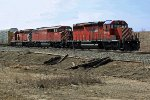 CP 5972, 9021 & 5725 bring the daily transfer to CN's Clover Bar Yard.
