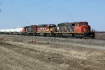 CN 5269, WC 3027 and CN 5358 approach CN's Scotford Yard