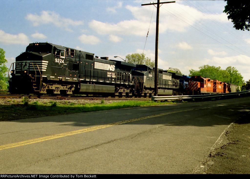 Local meets a big train