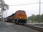 BNSF power NB on CSX rails