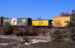 Yellow caboose