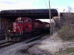 Train under tracks