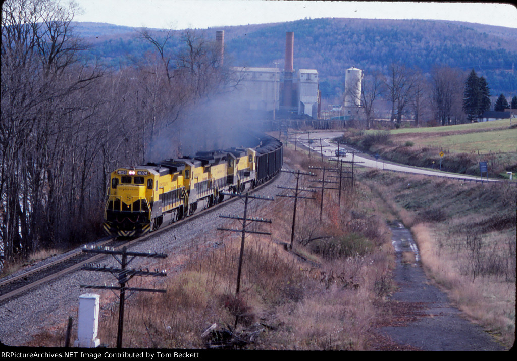 All NYSW power leads a coal train