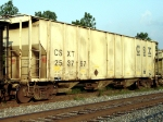 CSXT #253767, a 4000 cubic foot capacity car built in 1970 for Baltimore & Ohio Railroad,