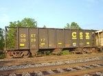 CSX 292917, with a load of finely screened rock,