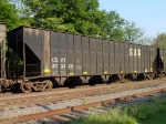 CSX 433428, awaiting placement for woodchip loading at Lee Timber,