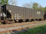 CSXT #433985, awaiting placement for woodchip loading at Lee Timber,