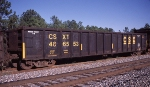 CSXT 486553, rostered as a Bulkhead End Equipped Gondola,