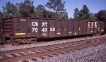 CSXT 704329, rostered as a bulkhead end equipped car,