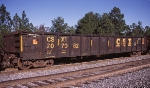 CSXT 707062, rostered as an equipped gondoal with a bulkhead end,