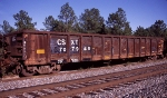 CSXT 707948, rostered as a Bulkhead End Equipped Gondola,