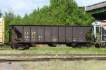 CSX 943197, used by the Maintenance of Way department for used cross tie loading,